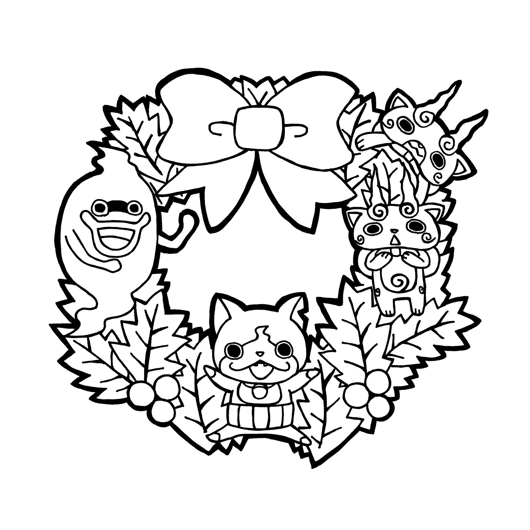 カレンダー カレンダー 2015 プリント : ネコがじんG 妖怪ウォッチ ...