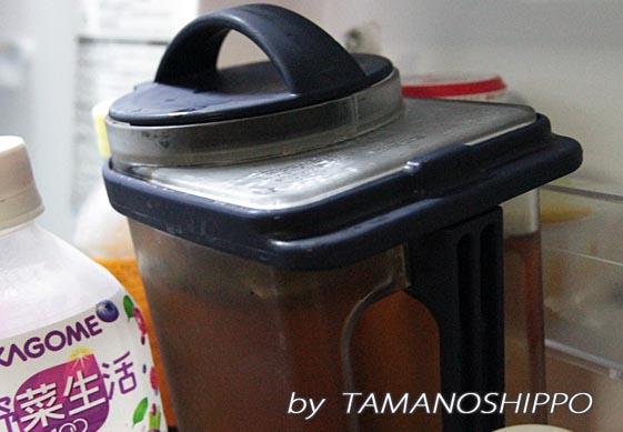 浄水器を通して作った麦茶