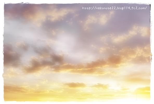 空がきれいだなと思って撮ってblog書いてたら