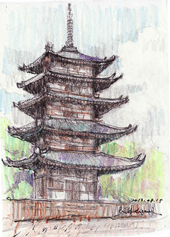 13081502 興福寺塔の2