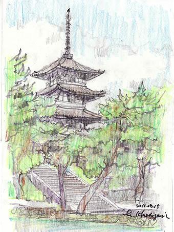 13081501 興福寺塔の1
