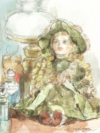 8月の静物 人形の3