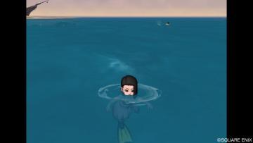 水面でしか泳げない・・・