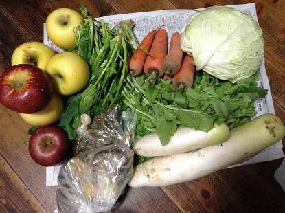 野菜とりんご