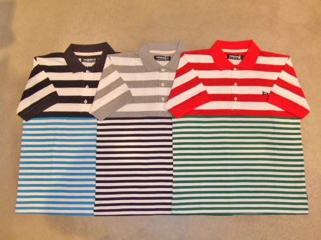 MDY BORDER STRIPE POLO SHIRTS