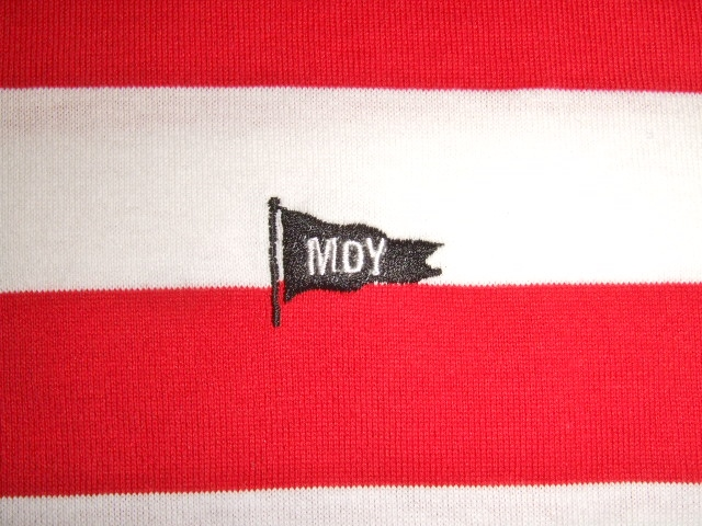 MDY BORDER STRIPE POLO SHIRTS RED EB