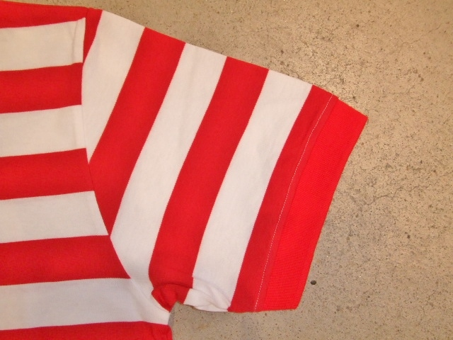 MDY BORDER STRIPE POLO SHIRTS RED SD