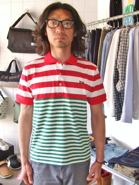 MDY BORDER STRIPE POLO SHIRTS ST1
