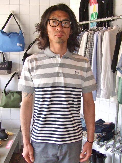 MDY BORDER STRIPE POLO SHIRTS ST2