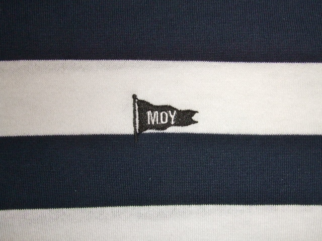 MDY BORDER STRIPE POLO SHIRTS NAVY EB