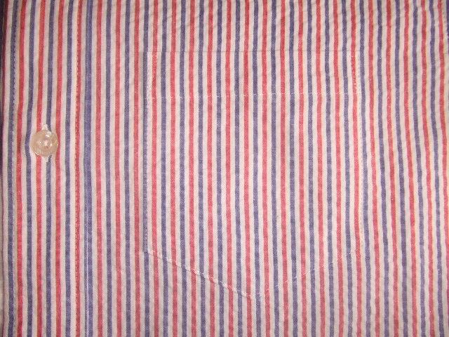 MDY SEERSUCKER SHIRTS RED PT