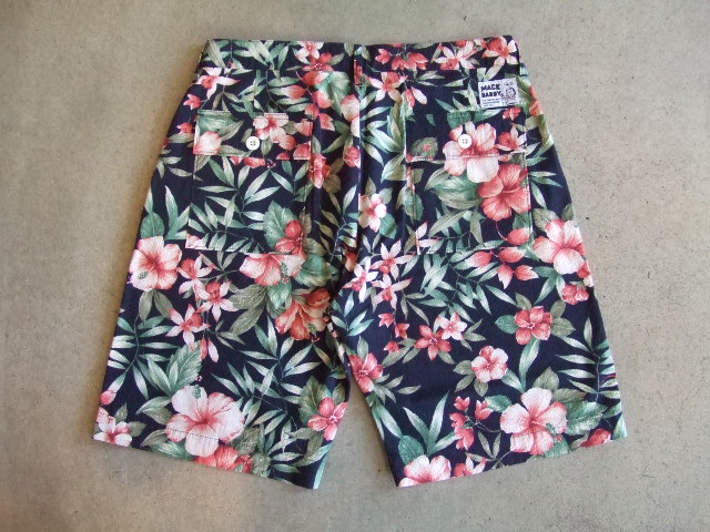 MDY FLOWER PATTERNS PANTS BACK