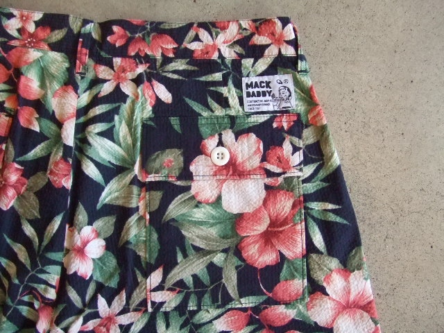 MDY FLOWER PATTERNS PANTS NAVY BK