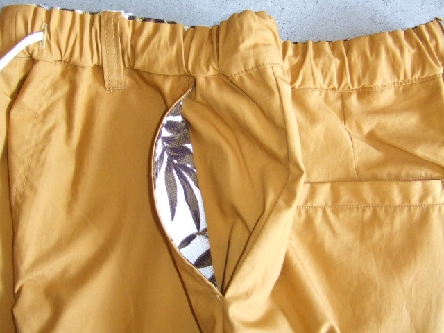 rehacer Reversible ALOHA shorts Mustard FTPT2