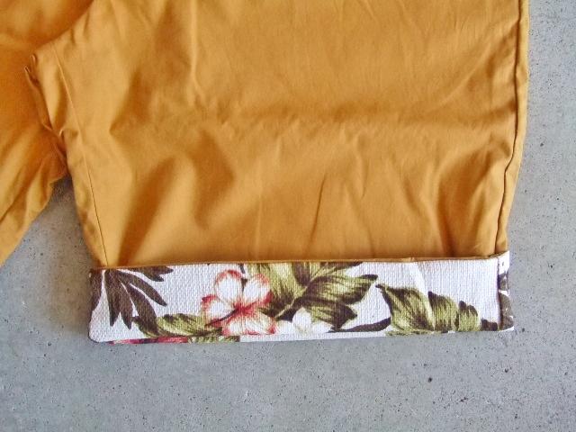 rehacer Reversible ALOHA shorts Mustard FTST2