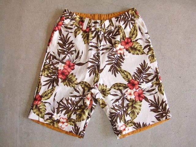 rehacer Reversible ALOHA shorts Mustard RVFT1