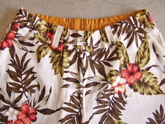 rehacer Reversible ALOHA shorts Mustard RVFT2