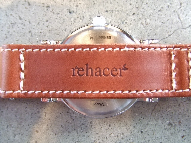 rehacer×TIMEX×Cramp leather belt watch BROWN BK2