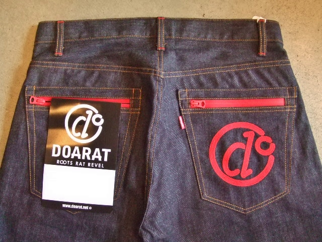 DOARAT WATERPROOF DENIM PANTS RED BK