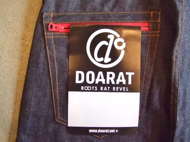 DOARAT WATERPROOF DENIM PANTS RED BKPT2