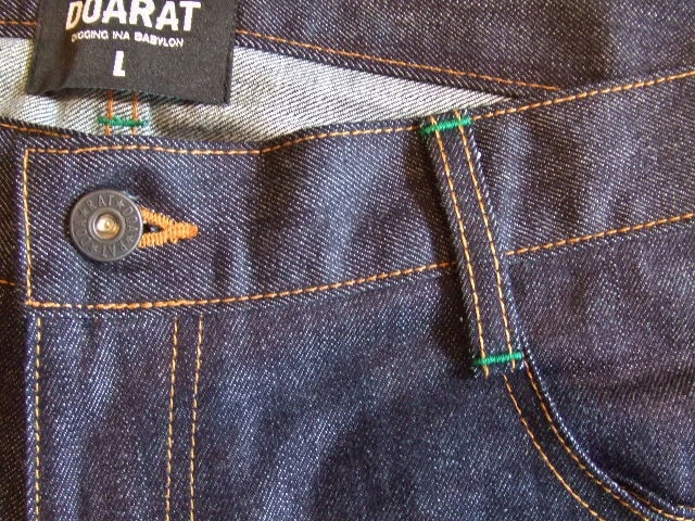 DOARAT WATERPROOF DENIM PANTS GREEN FTBT