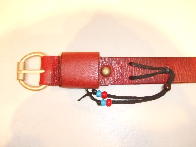 rehacer Color leather belt red1
