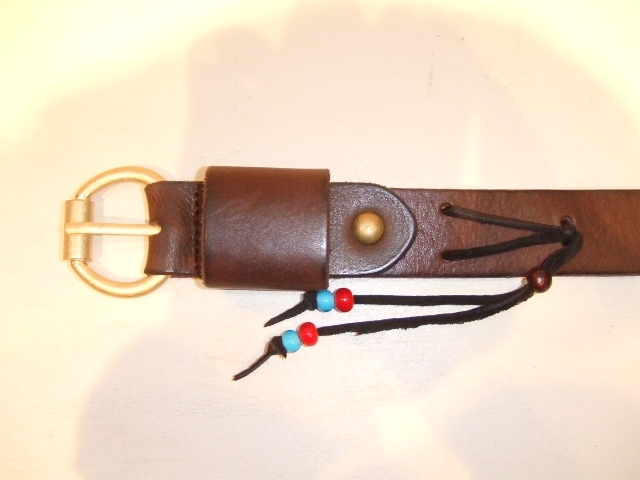 rehacer Color leather belt brown1