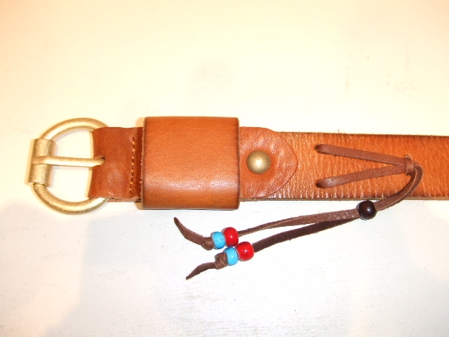 rehacer Color leather belt beige1