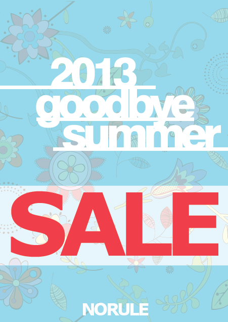 2013 GOODBYE SUMMER SALE