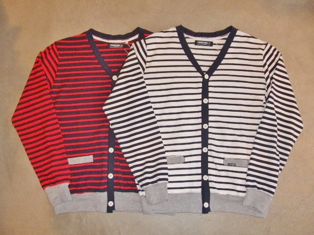 MDY BORDER STRIPE CARDIGAN