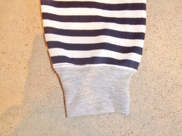 MDY BORDER STRIPE CARDIGAN WHITE SD