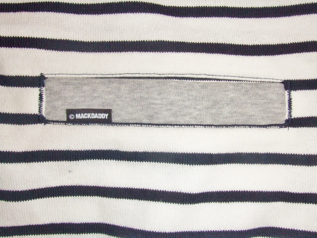MDY BORDER STRIPE CARDIGAN WHITE PT1