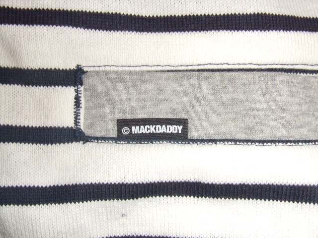 MDY BORDER STRIPE CARDIGAN WHITE PT2
