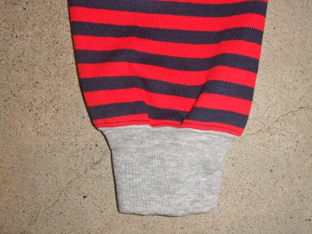 MDY BORDER STRIPE CARDIGAN RED SD