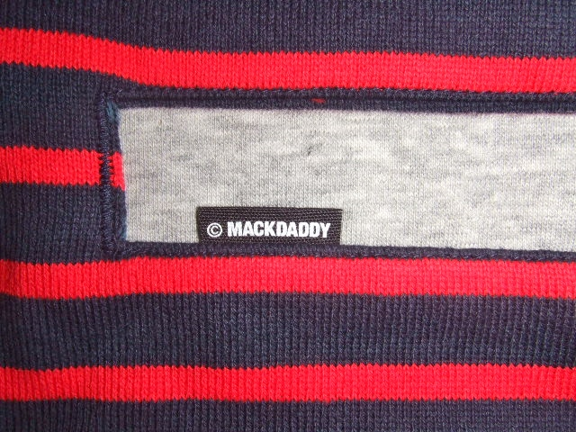 MDY BORDER STRIPE CARDIGAN RED PT
