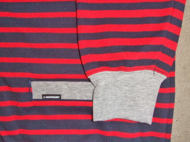 MDY BORDER STRIPE CARDIGAN RED PTSD