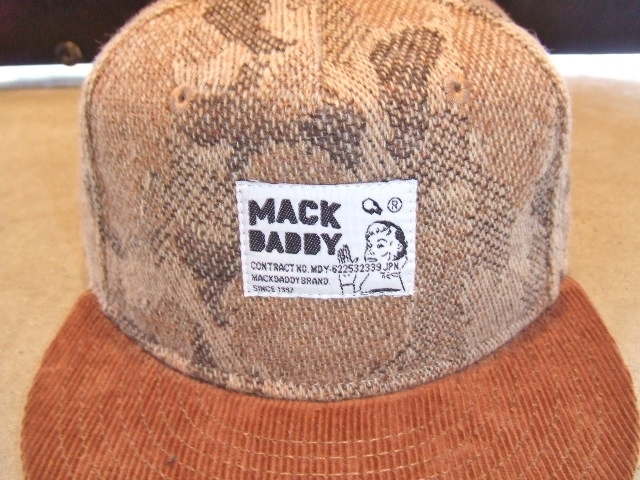 MDY CAMO WOOL SNAP BACK CAP BROWN FT