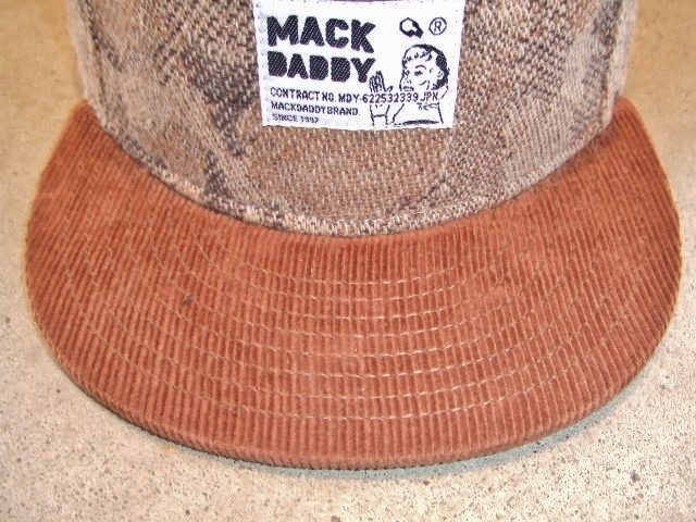 MDY CAMO WOOL SNAP BACK CAP BROWN FT1