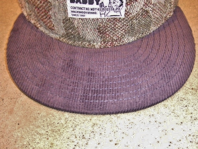MDY CAMO WOOL SNAP BACK CAP NAVY FT1
