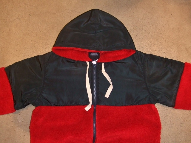 MDY MIXED HOODED BLOUSON RED FT1