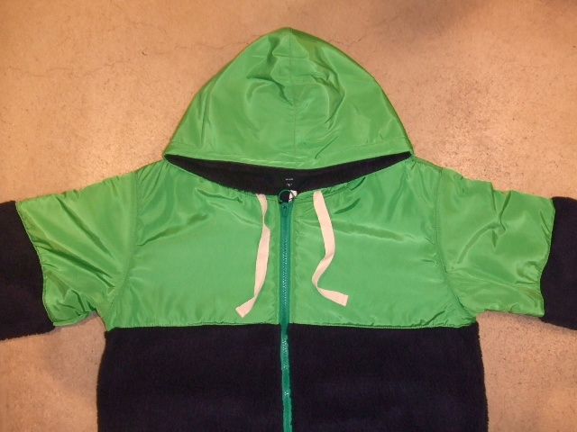 MDY MIXED HOODED BLOUSON NAVY FT1