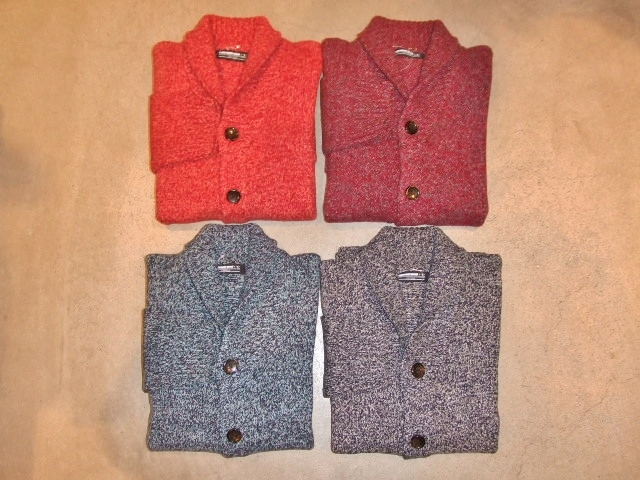 MDY SHAWL COLLAR WOOL KNIT SWEATER