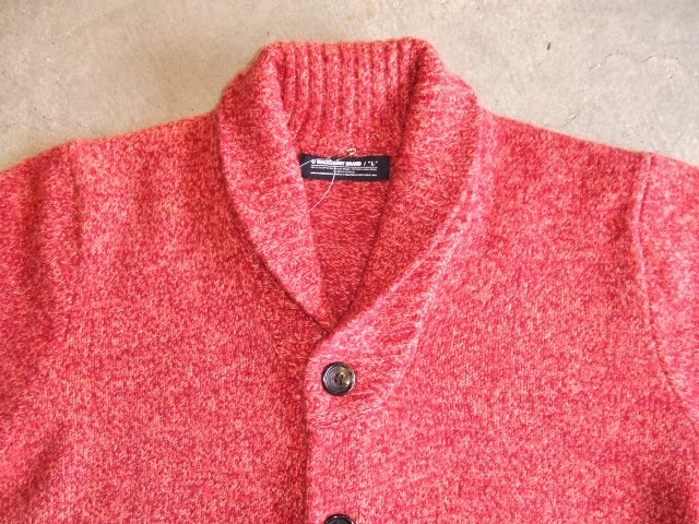 MDY SHAWL COLLAR WOOL KNIT SWEATER PINK FT2