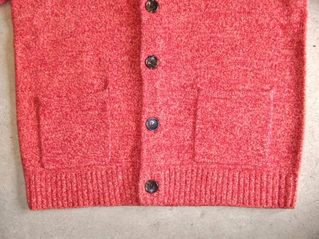 MDY SHAWL COLLAR WOOL KNIT SWEATER PINK FT3
