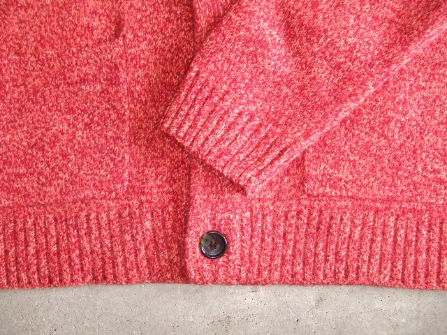 MDY SHAWL COLLAR WOOL KNIT SWEATER PINK FT4