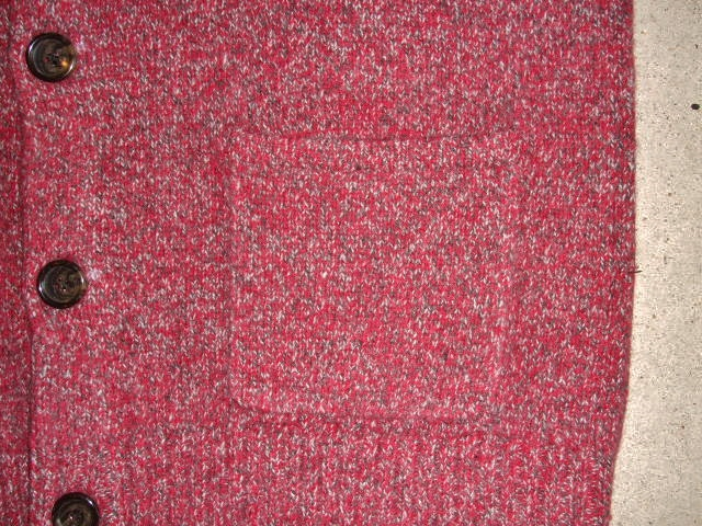 MDY SHAWL COLLAR WOOL KNIT SWEATER RED FT5