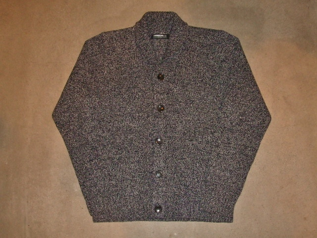 MDY SHAWL COLLAR WOOL KNIT SWEATER BLACK FT1