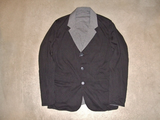 rehacer Reversible cut tailored jacket BLACK FT1