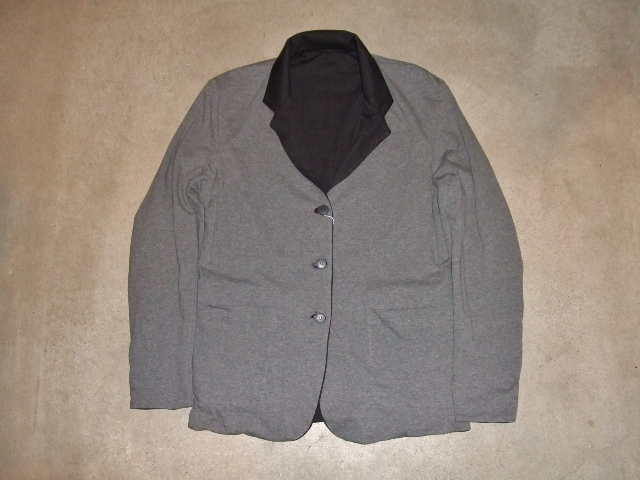 rehacer Reversible cut tailored jacket GRAY FT1