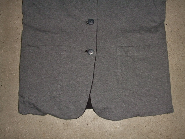 rehacer Reversible cut tailored jacket GRAY FT3